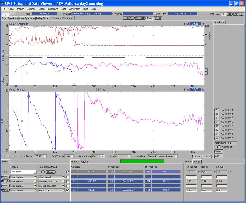 Start M3 04 UPJ high-pass @168   all-pass MM10 result window edit