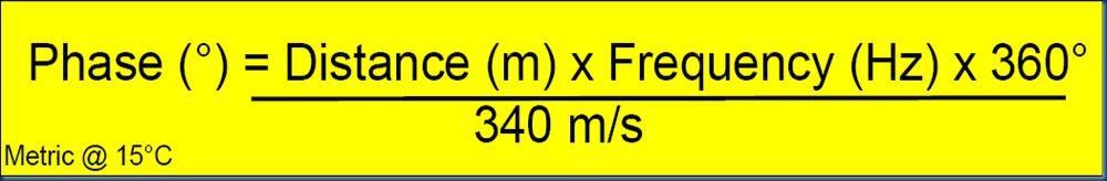 phase formula distance