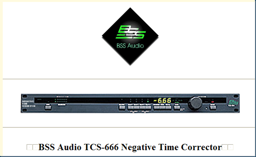 BSS negative time correction