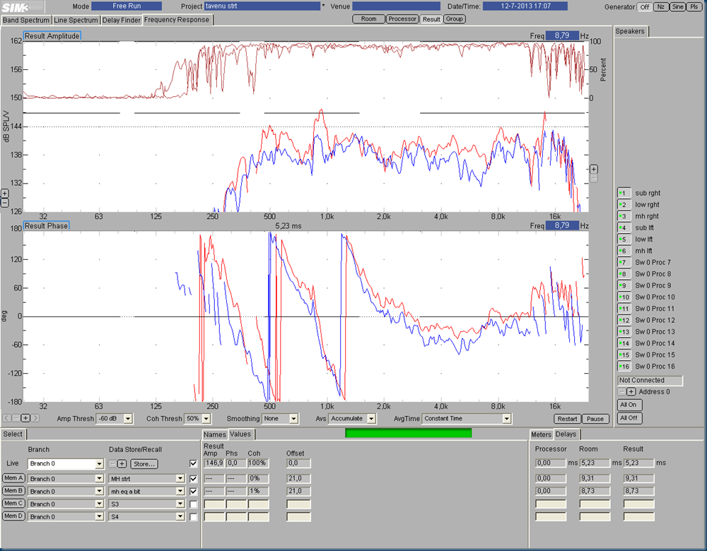 006 top no eq red vs top eq blue scale @ 6db
