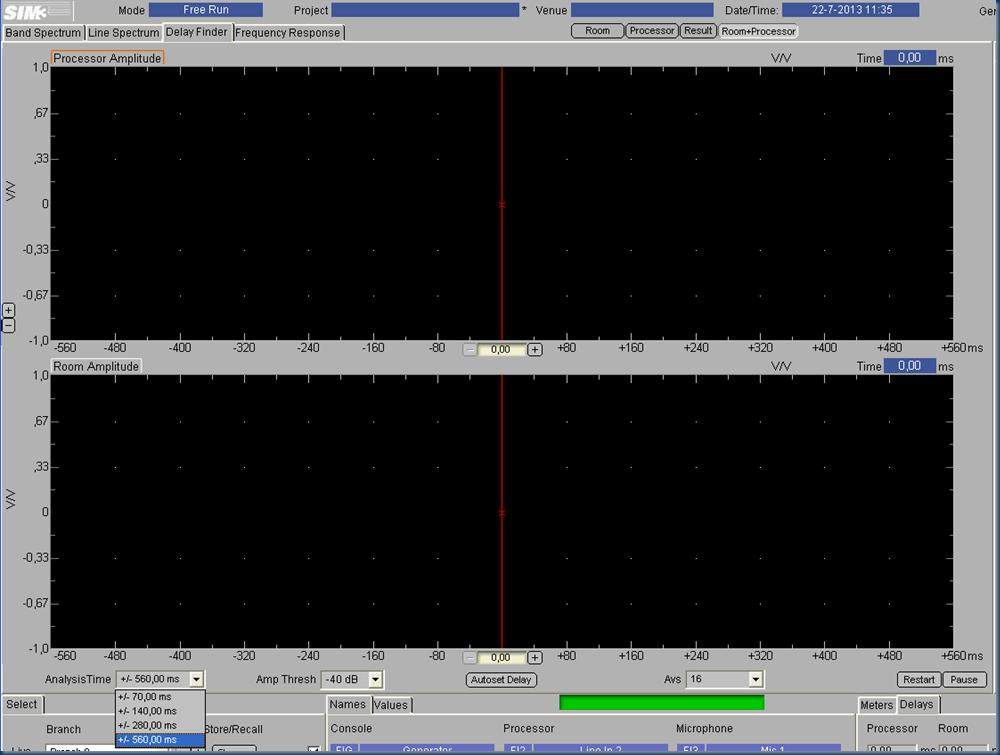 Settings sim sub measurement