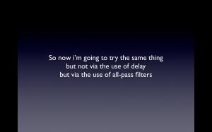 0020 gradient delay allpass