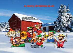 7 evil dwarfs doing the system @ cristmas edit