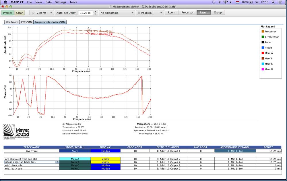 00007c CSA 2subs sub front sub back phase aligned 3ms